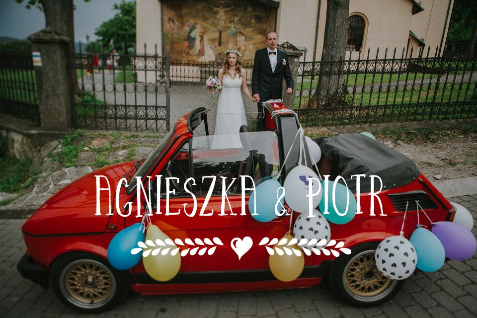 Maluchem do ślubu! Pełne stylu i koloru wesele w Lanckoronie | Agnieszka i Piotr