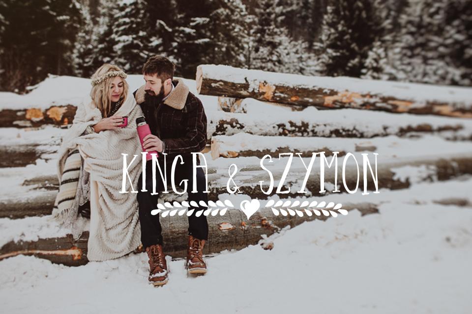 Zimowa sesja w pięknym lesie! Naturalne zdjęcia ślubne Kraków | Kinga & Szymon